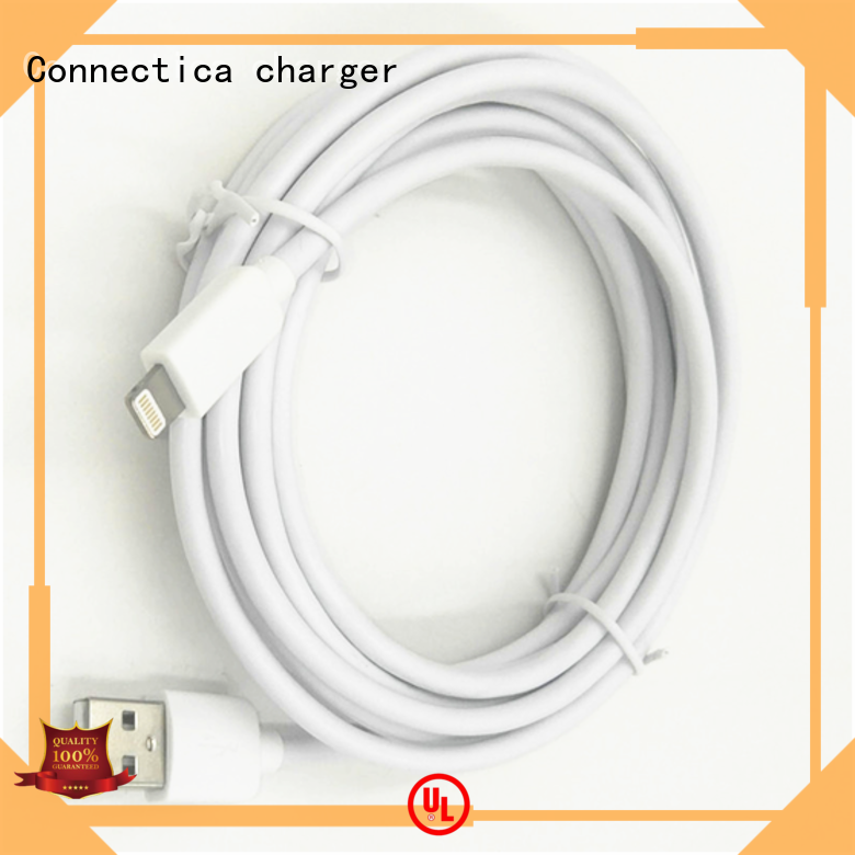 Connectica charger Brand datacharging assured mfi usb cable tpepvc