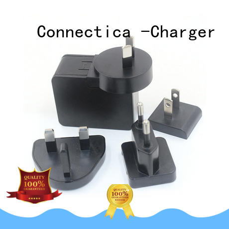 Connectica charger ctc micro usb wall charger flame resistant for high density