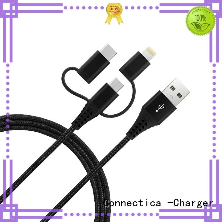mfi usb cable connector pvctpe certified Warranty Connectica charger