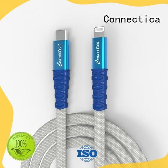 OEM lightning cable braided with molding aluminum for iPhone