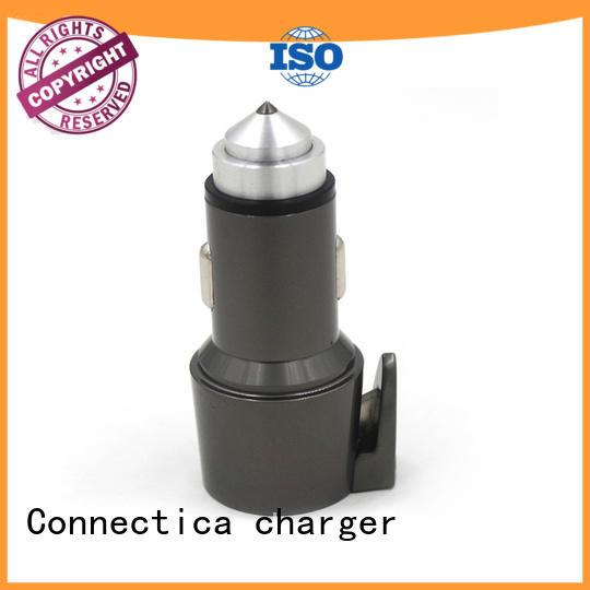 Connectica charger pc in car charger with oem odm service for car