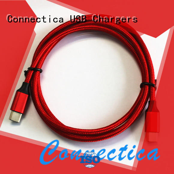 Connectica charger Brand assured connector certified tpe charging cable