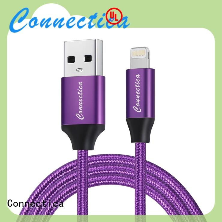 Connectica High-quality usb to lightning cable with molding for sale
