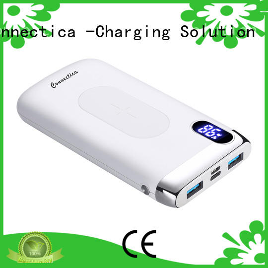Connectica magnetic external battery charger with usb type c cable for mobile phone