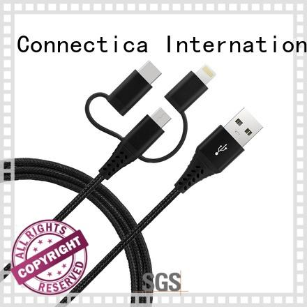 Connectica charger right angle mfi usb cable with molding for the game
