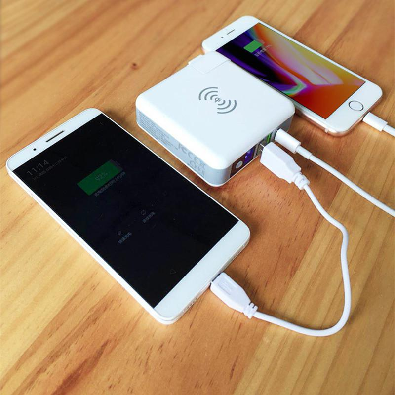 Traveler cum Wireless Portable Charger with Multiple Plugs CTC-0002-8