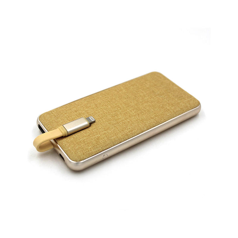 Suede Pad & Aluminum Flame MFi Portable Power Bank Charger CPC-0002I