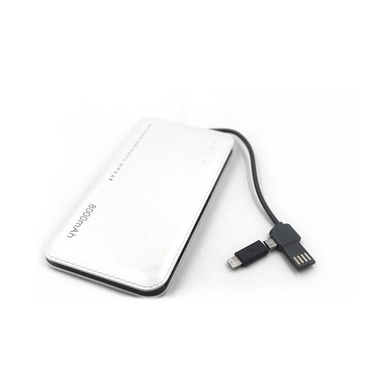 Built-In 2 In 1 Connectors Portable External Battery Charger CPC-0005