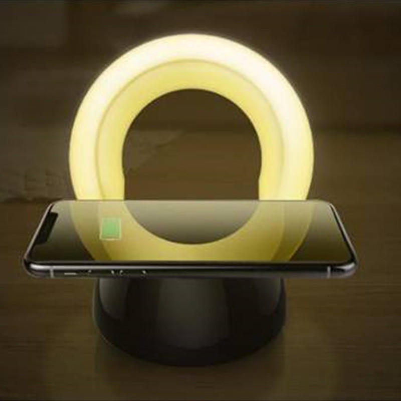 Wireless Charging With Night Light For PC Cordless Phone Chargers CWC-0002