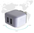 2 port usb wall charger ressistant travel flame Connectica charger Brand company