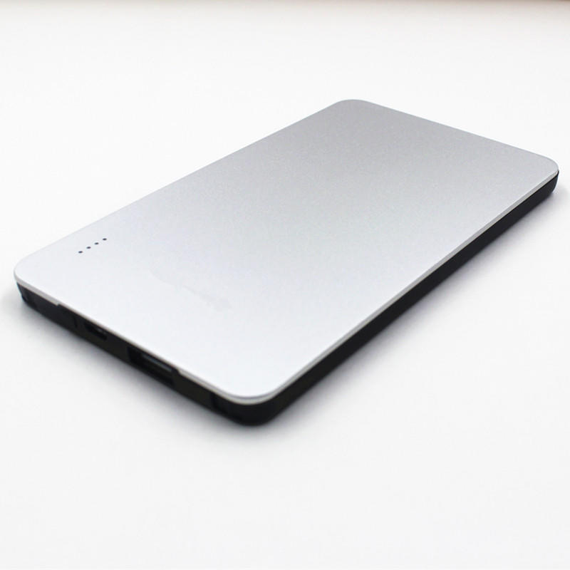 MFi Aluminum Housing Ultra-Thin 5000mAh USB Power Bank With Built-In A Lightning