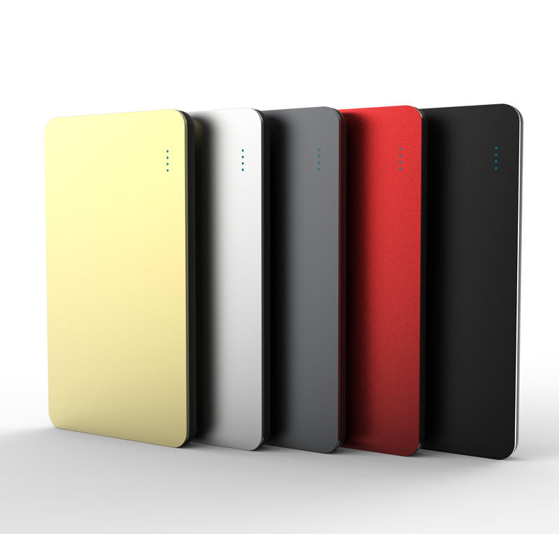 slim power bank with bulit in a lightning for working