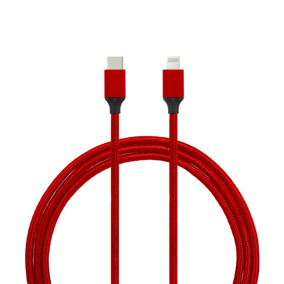 USB Type-C To Lightning Connector Data/Charging Braided Or PVC/PET Mfi Lightning Cable
