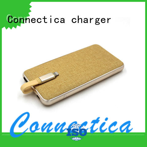 Connectica charger hot sale portable battery bank with rfid blocker for mobile phone