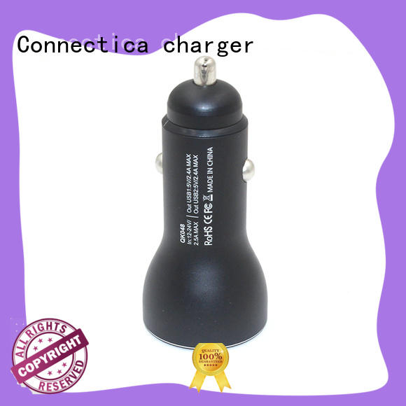 micro usb car charger qc for car Connectica charger