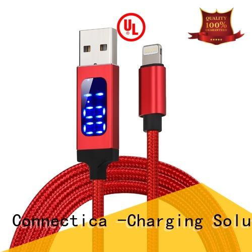 Connectica pvc best lightning cable with a usb Micro connector for sale