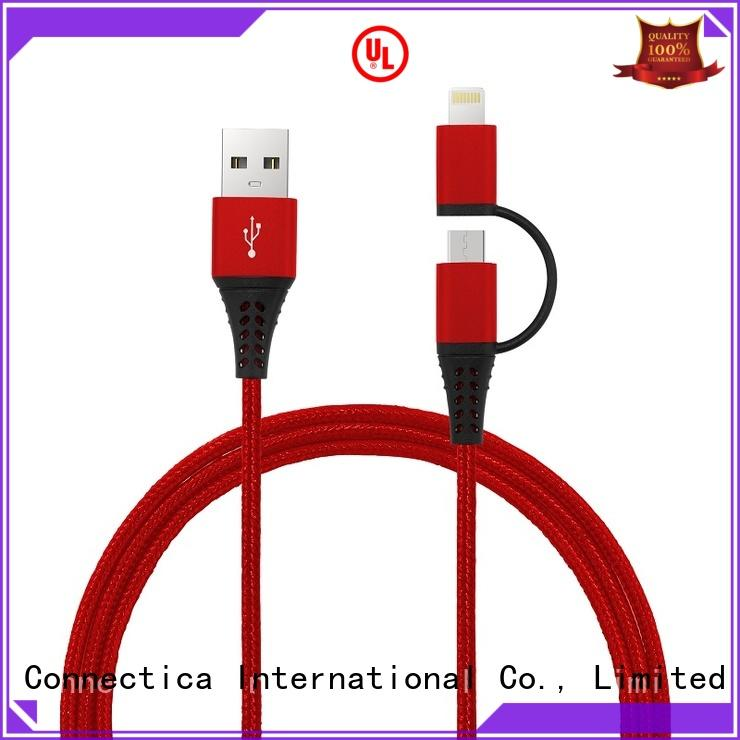 Connectica charger nylon mfi usb cable mfi for the game
