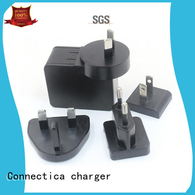 Multiple Plugs Travel Charger Flame Resistant PC CTC-0001