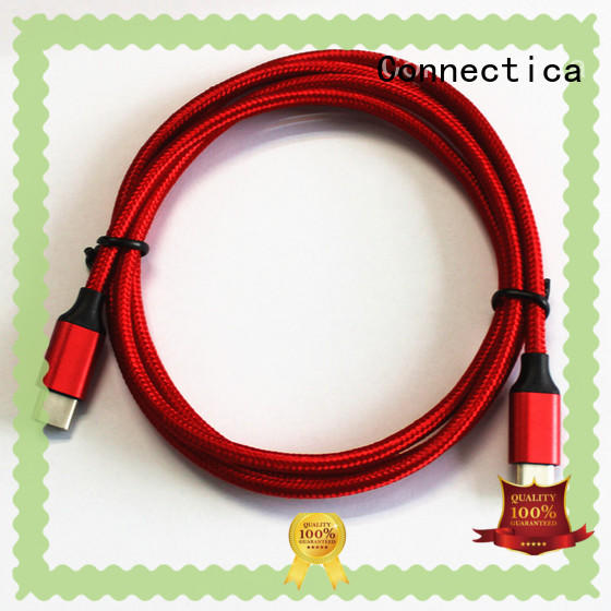 Connectica aluminum cable iphone original with a usb Micro connector for android phone