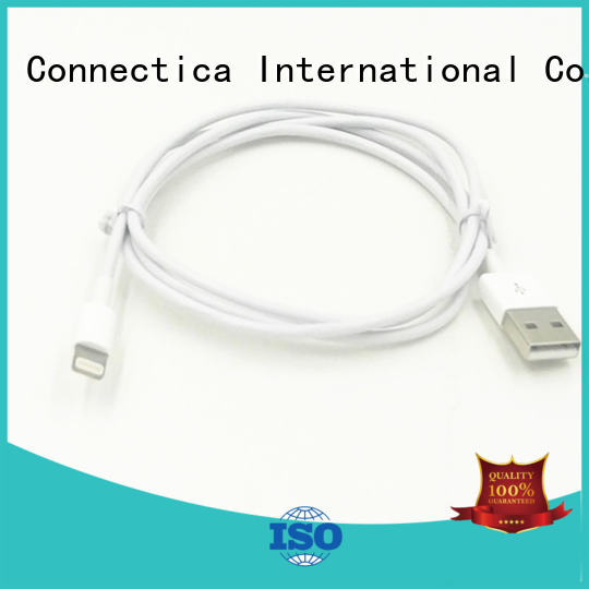 Hot certification charging cable tpeabs certified Connectica charger Brand