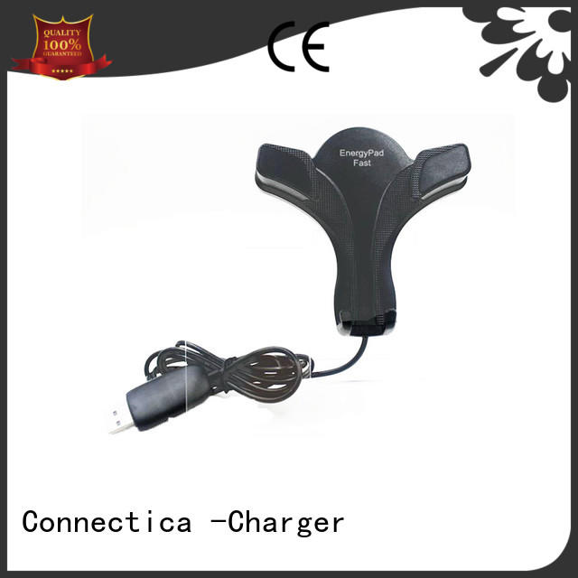 Connectica charger round iphone charging pad with night light for pu