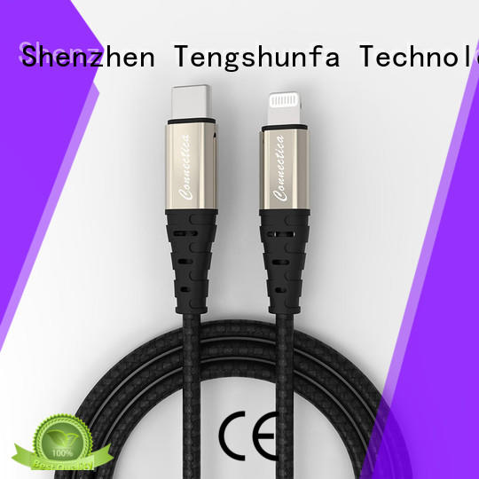 Connectica Kevlar iphone charger cable with molding aluminum for Iphone 6S