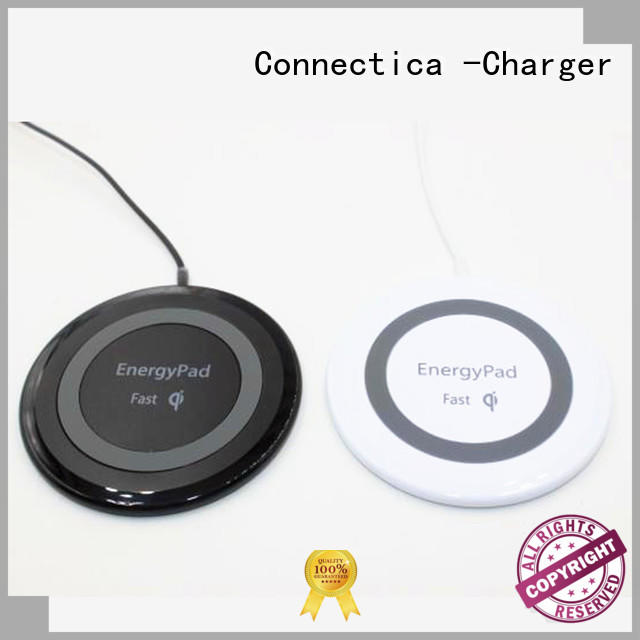 high quality phone charging pad hot sale for pu Connectica charger