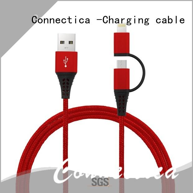 Connectica charging usb a port to usb type c type c usb cable with molding