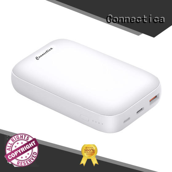 Connectica notepad slim power bank with bulit in a lightning for mobile phone