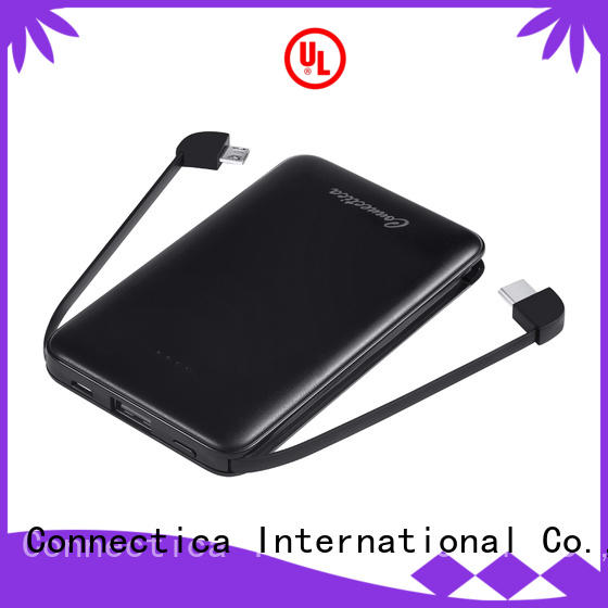 Connectica charger external battery charger mfi for travelling
