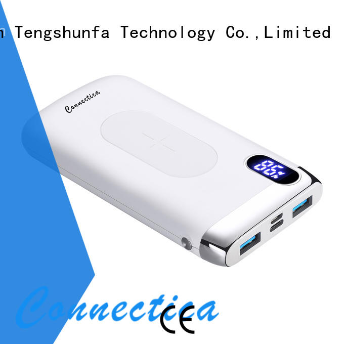 Connectica charger housing wireless charging power bank with rfid blocker for mobile phone