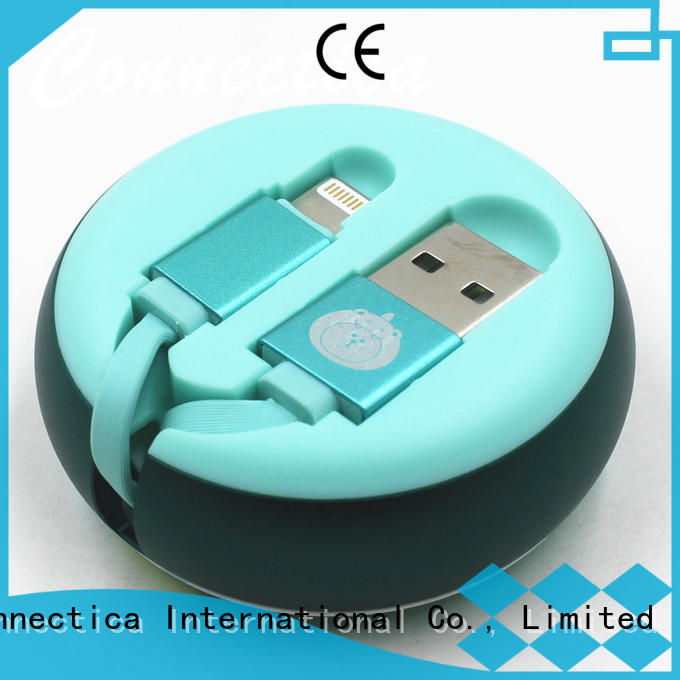 Connectica charger right angle mfi lightning cable pet for the game