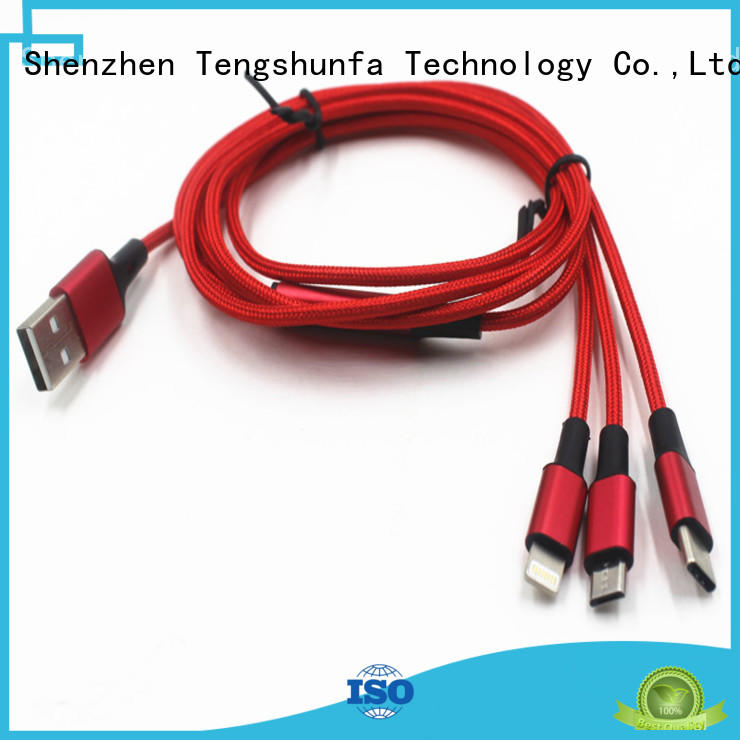 Connectica usb a port to usb type c usb to lightning cable with molding for android phone