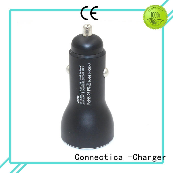 high quality usb c car charger with two different output ports for car