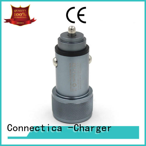 Connectica charger excellent cigarette car charger with two different output ports for sale