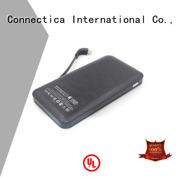 Connectica charger Brand charging portable power bank flame factory