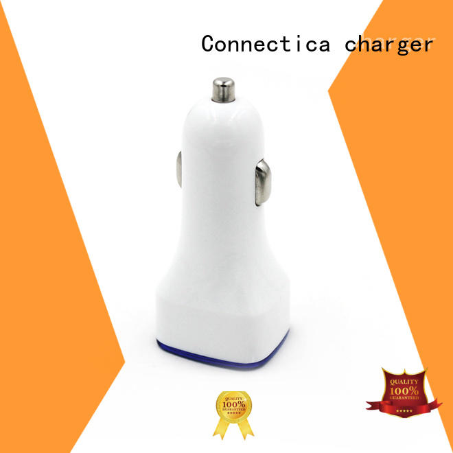 Connectica charger high quality 2 port usb car charger supplier for sale