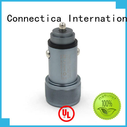 best car charger incar soft car charger adapter flame Connectica charger Brand