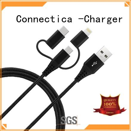 3 in 1 Connector MFi Data/Charging cable Nylon Braided cable