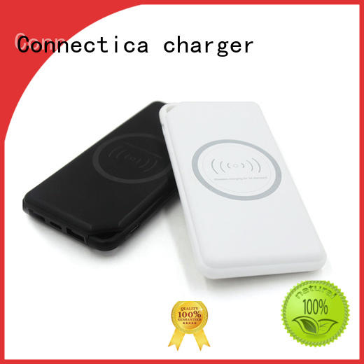 Connectica charger Brand suede blocker builtin portable power bank