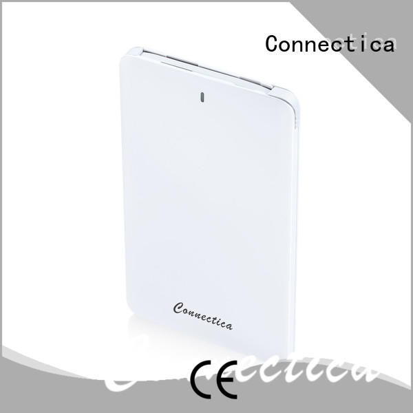Connectica stand cum slim power bank with usb type c cable for travelling