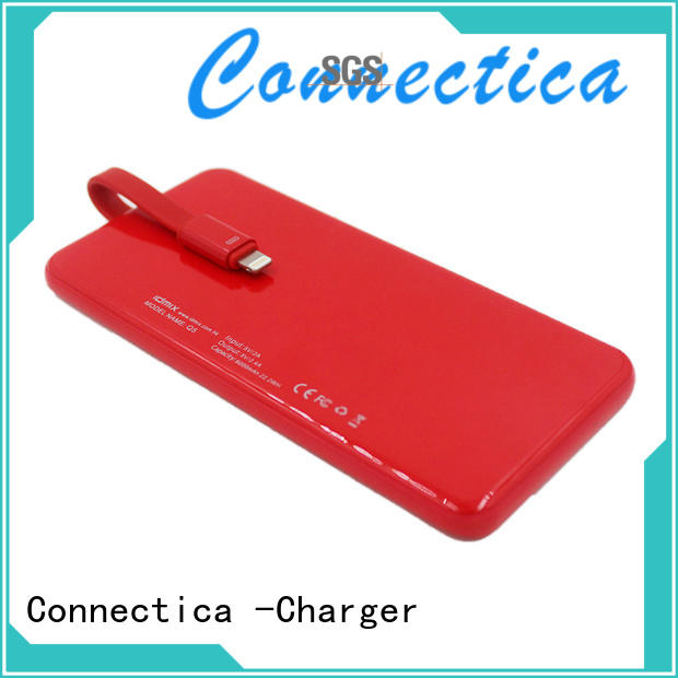 Wholesale builtin charger portable power bank Connectica charger Brand