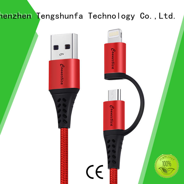 Connectica pet cable iphone original with a usb Micro connector for android phone