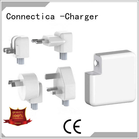 Connectica charger portable dual usb wall charger ctc for high density