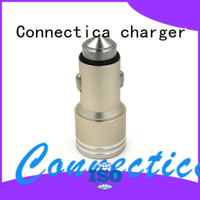 soft incar Connectica charger Brand best car charger factory