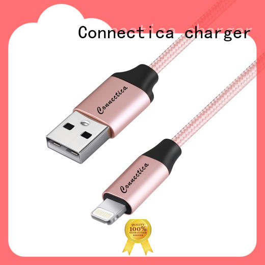 Connectica charger pet micro usb cord with magnetic lightning