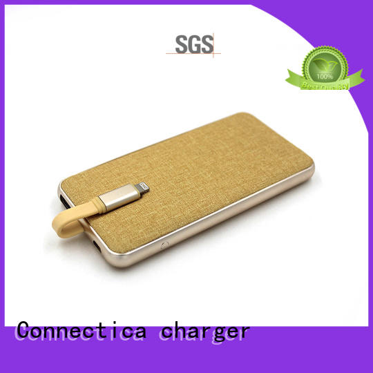 high quality slim power bank excellent for working Connectica charger