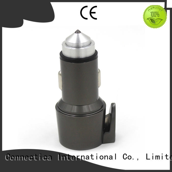 Connectica charger Brand incar car charger adapter plastic factory