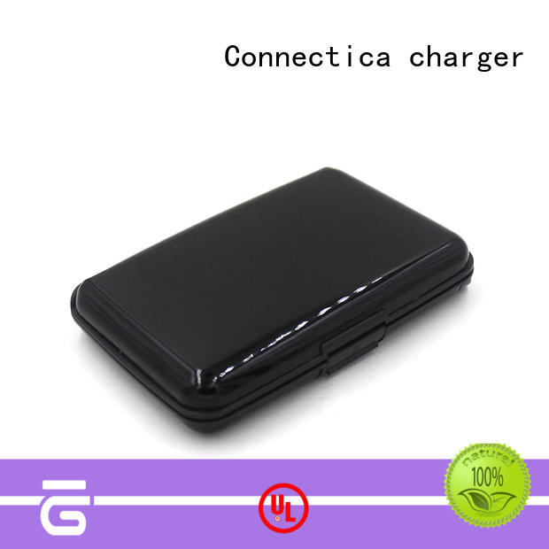 power card wallet Power Bank Wholesale with usb type c cable for working Connectica charger