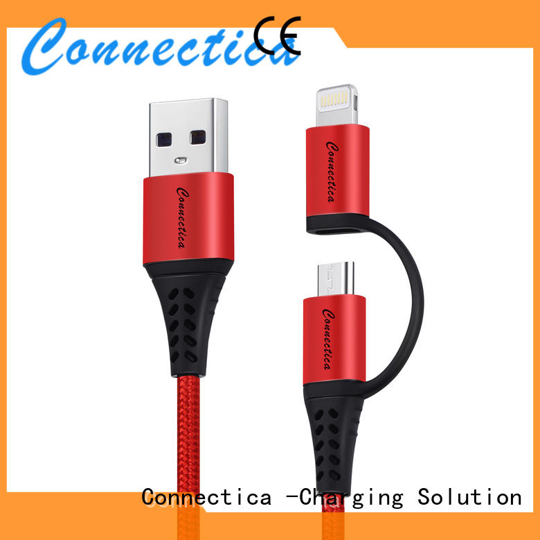 Connectica braided usb to lightning cable Supply
